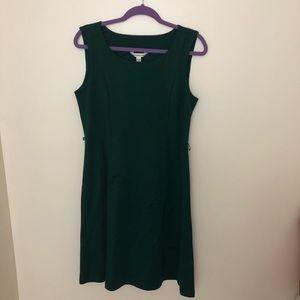 Green sleeveless Croft & Barrow dress